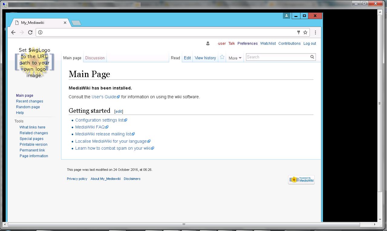 mediawiki installed